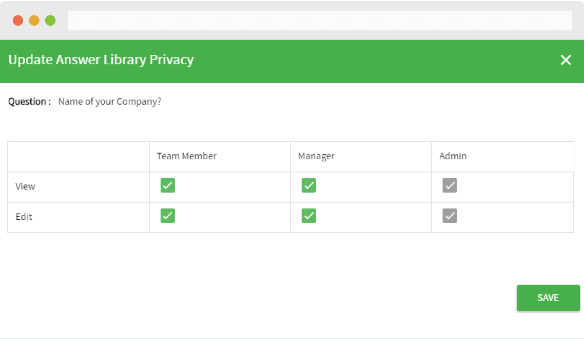 Answer library privacy